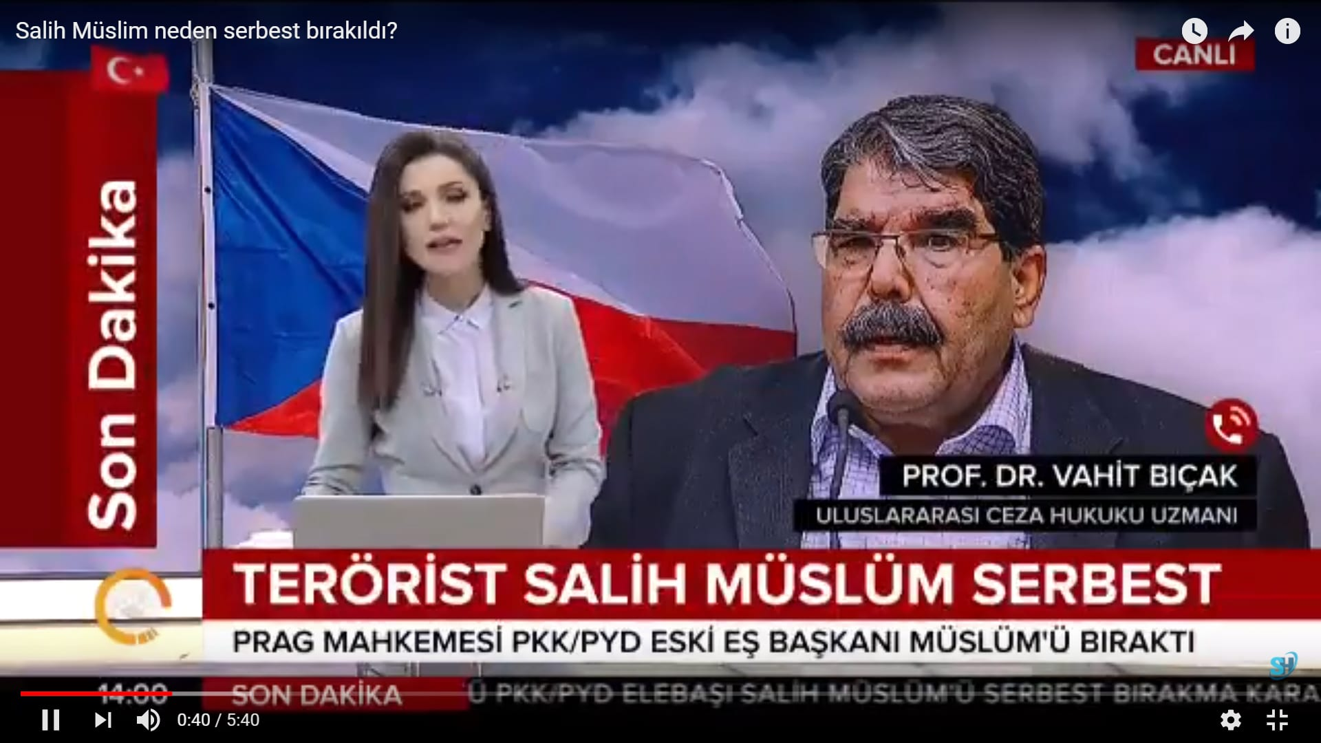 salih muslim - Ceza Hukukçusu Prof. Dr. Vahit Bıçak: İade işlemleri tutuksuz olarak da devam edebilir