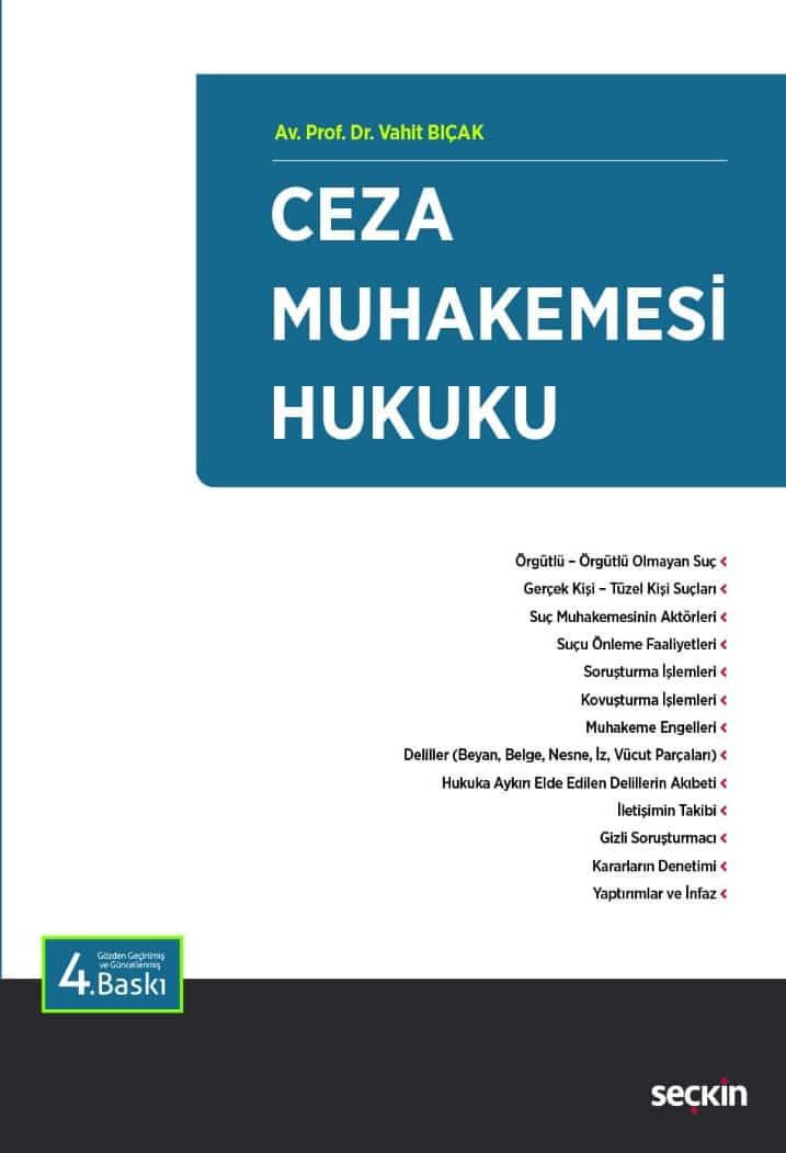 ceza muhakemesi hukuku 4 baski dik - Ceza Muhakemesi Hukuku